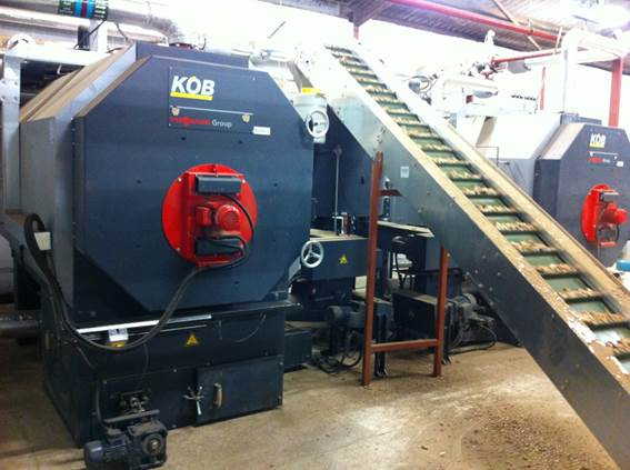 2 no. Viessmann (KOB) wood chip boilers at Castle Ashby
